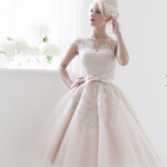 POPPY by House of Mooshki, beautiful tulle and lace vintage 1950s inspired wedding gown
