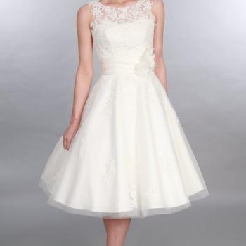 One Short Wedding Dress Style Four Ways
