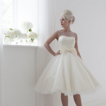 tea length wedding dresses by House of Mooshki