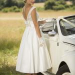 satin short wedding dresses