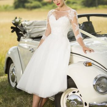 tulle short wedding dresses