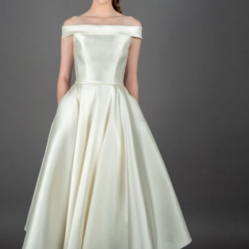 Mikado Silk short wedding dresses