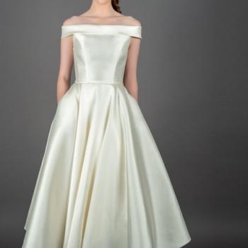 Mikado Silk short wedding dresses