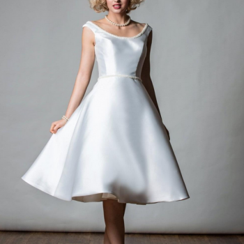 Mikado satin short wedding dresses