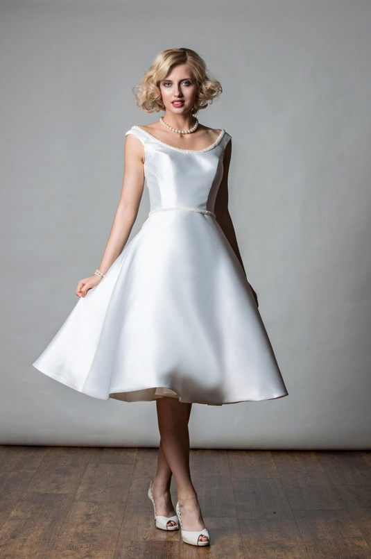 Mikado Silk Short Wedding Dresses At Cutting Edge Bridescutting Edge Brides