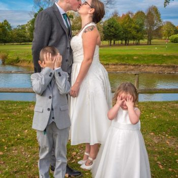 Real Bride Jemma wearing Timeless Chic halter neck wedding dress