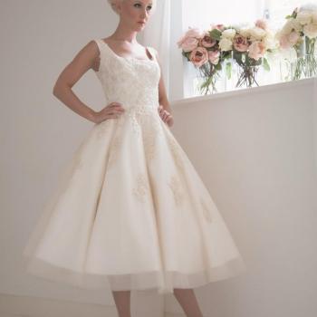 statement short wedding dress