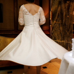 Timeless Chic short vintage inspired wedding gown