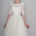 sweetheart necklines on short wedding dresses