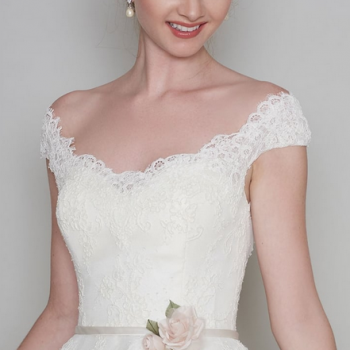 Daisy Loulou Tea length wedding dress