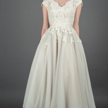 POLLY-ROSE 50s Vintage Inspired Lace and Polka Dot Wedding Dress