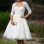 a beautiful tea length wedding dress by Timeless Chic