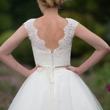 Backs on Vintage Style Wedding Dress