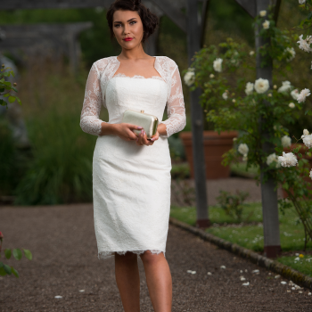Timeless Chic short wedding dresses available at Cutting Edge Brides