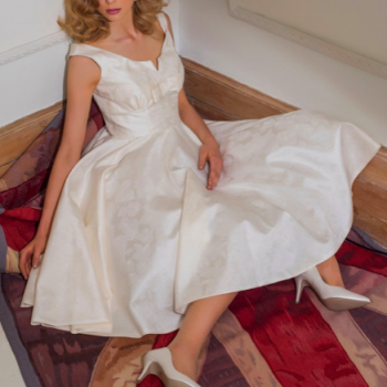 renew your wedding vows in a Louise Bentley wedding dress