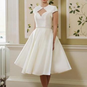 minimalist short wedding dress