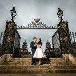 a classic tea length wedding dress