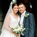 Rebecca & Callum - rebecca wearing an alternative wedding dress