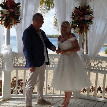 real bride wearing tulle vintage style wedding dress