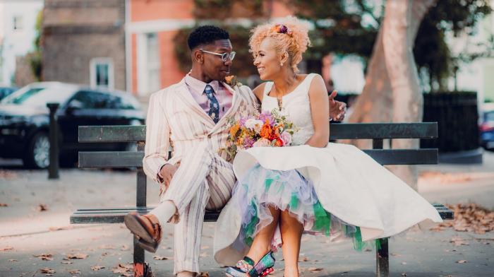 tea length wedding dress at Cutting Edge Brides
