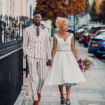 a colourful wedding day