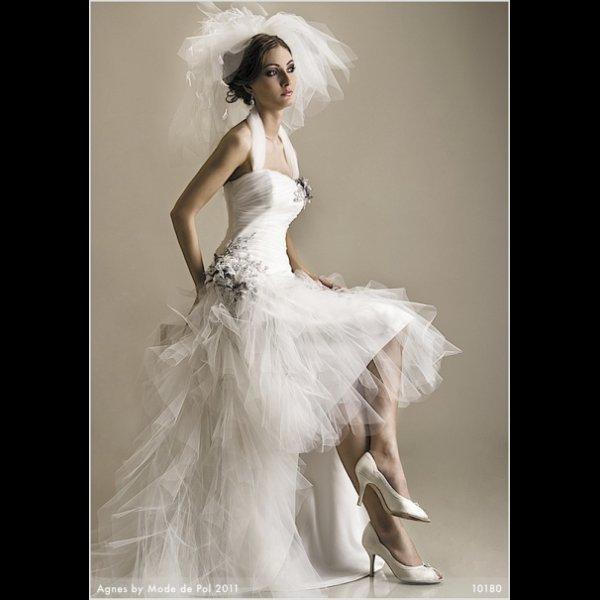 LOLA Unique Short At Front Long Back Wedding Dress