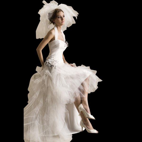 Lola Unique Short At Front Long At Back Wedding Dress