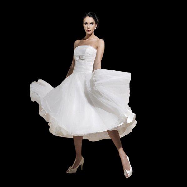 Vintage Wedding Dresses Brighton: Tea Length Wedding Dress By Agnes Bridal Dream 10606