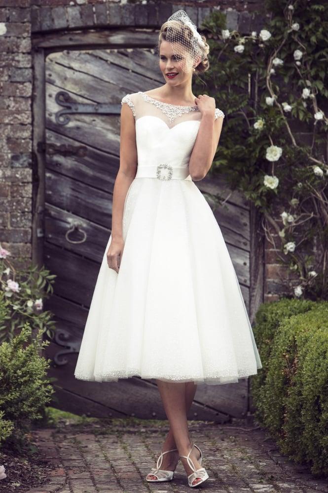 Amelia Brigthon Belle By True Bride Calf Tea Length Size