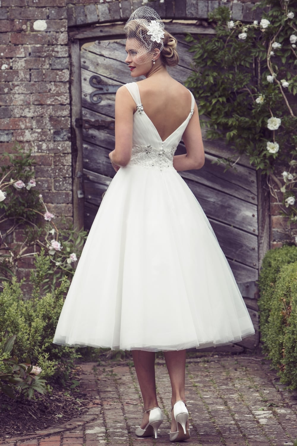Discontinued Design Now In Sample Sale Etta 1950s Tea Length Short Wedding Dress