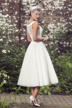 Dolly Tea Length Retro 1950s Short Wedding Dress