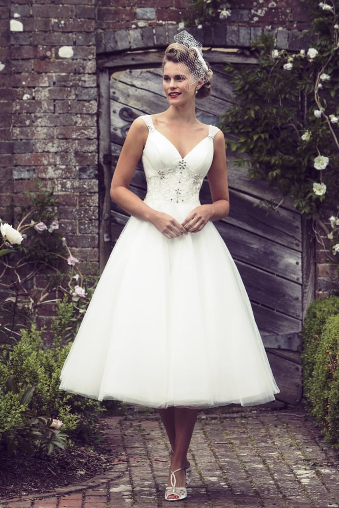 Brighton Belle by True Bride ETTA 1950s Tea Length Short Wedding Dress