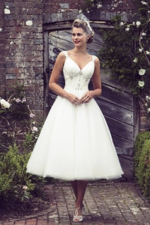 ETTA 1950s Tea Length Wedding Dress
