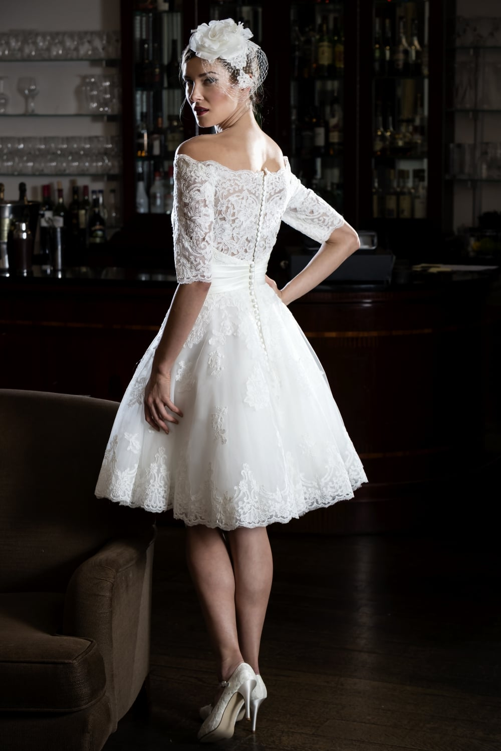 off the shoulder vintage wedding dresses