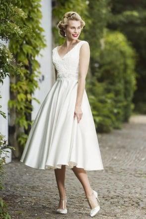 Harriet Brighton Belle Calf Length Vintage Wedding Dress