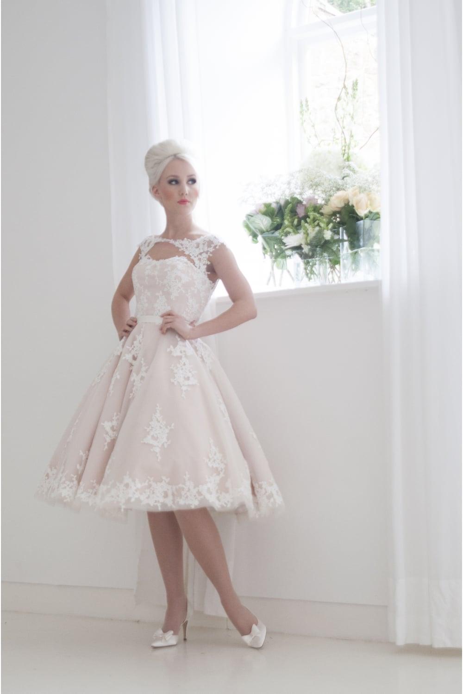Leonara Tea Length Wedding Dress House of Mooshki