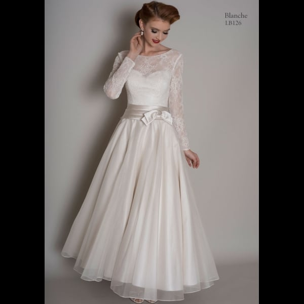 Vintage Wedding Dresses Brighton: Loulou Bridal BLANCHE Tea Calf Length Wedding Dress With