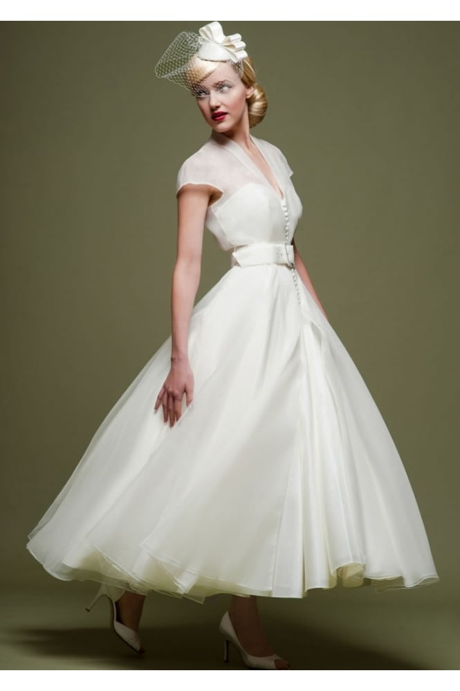 Cicely Lb47 By Loulou Bridal 1950s Vintage Wedding Dress