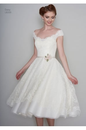 1950s Short & Tea Length Wedding Dresses UK