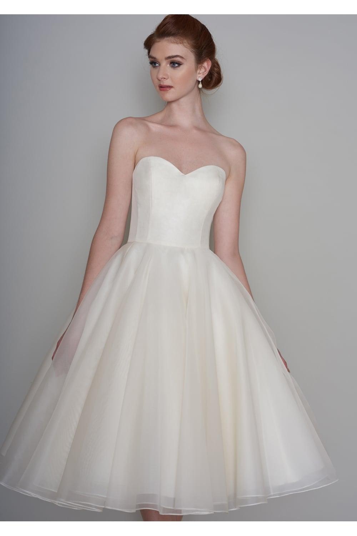 Loulou ELLA 50s Short Vintage Tea Length Wedding Dress - Short, Knee ...