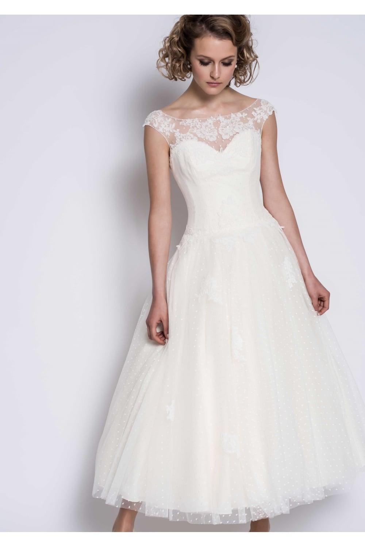 dc44df4137d Grace LB227 Loulou Bridal Vintage 1950s Polka Dot Tea Wedding Dress
