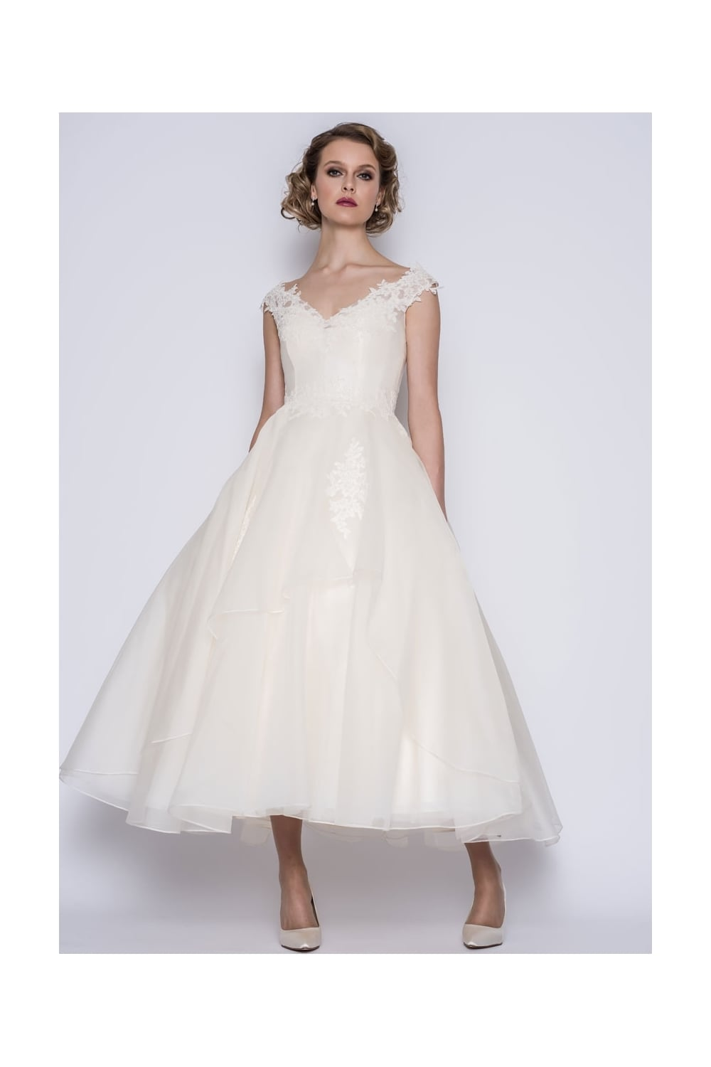 Loulou gwynie calf ankle length vintage 50s inspired for Calf length wedding dresses