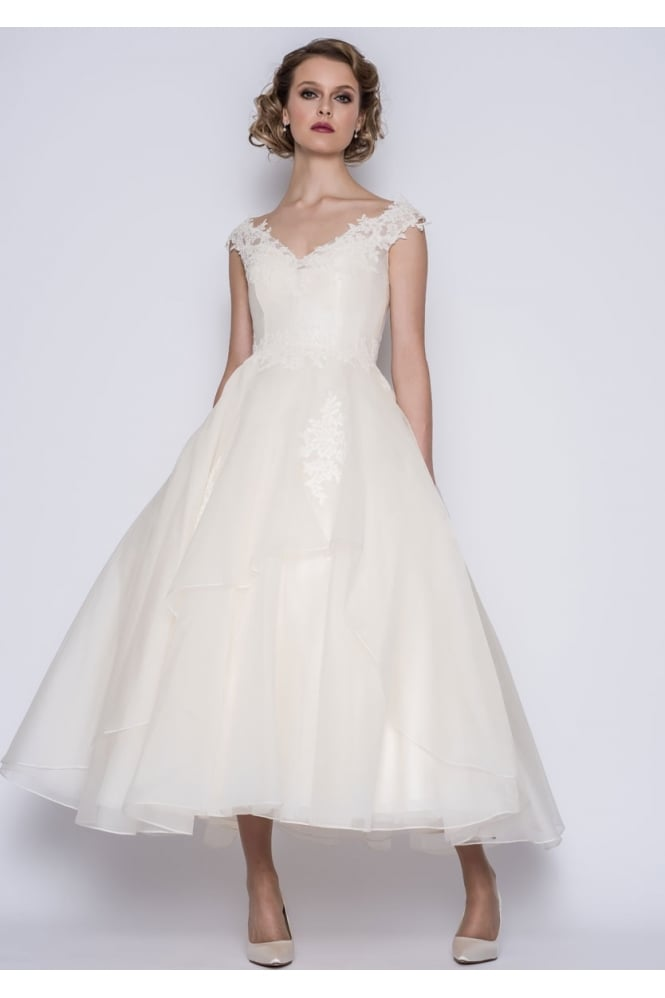 Loulou GWYNIE Calf Ankle length Vintage 50s Inspired Wedding Dress