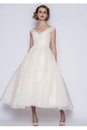 GWYNIE Calf Ankle length Vintage 50s Inspired Wedding Dress