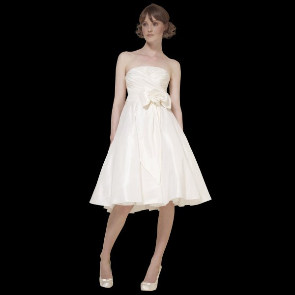 Vintage Wedding Dresses Brighton: LB09 Leyla Simple Elegant Taffeta Wedding Dress By Loulou LB09