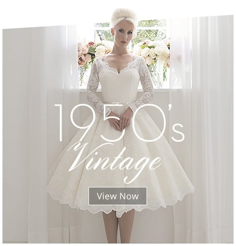 Stunning Short Wedding Dresses Sleeves Necklines 1950s
