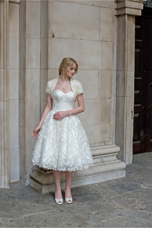 Vintage Inspired Short Wedding Dress