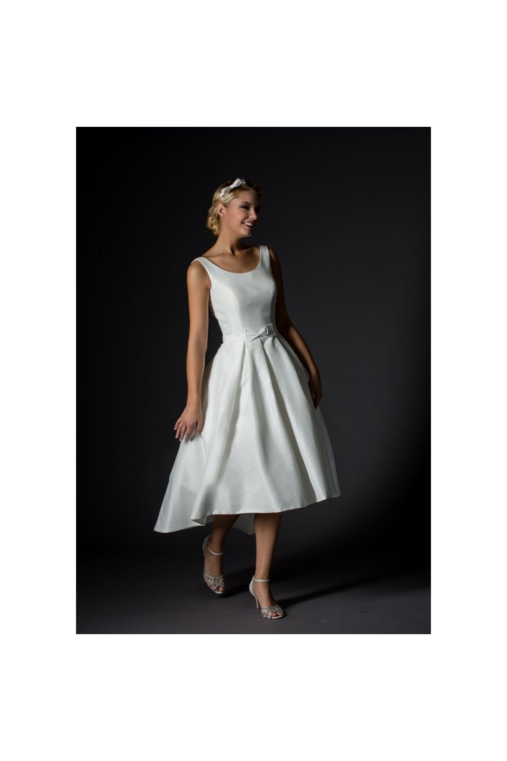 1039 Jessica Rita Mae Tea Length Short Vintage 50s Wedding Dress