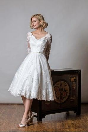 Victorian Tea Length Wedding Dresses