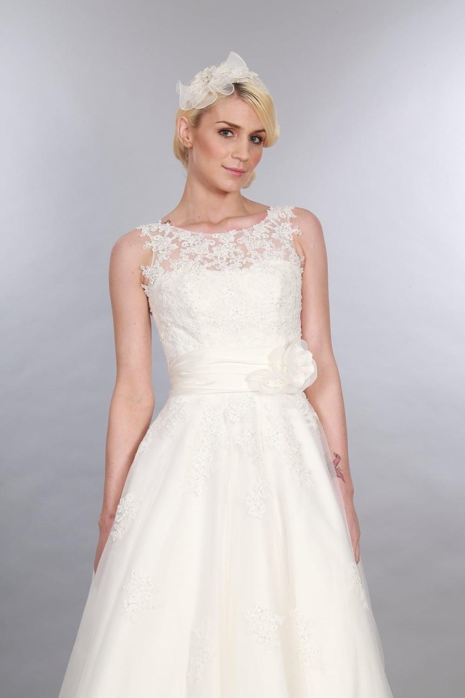 ANARA Lace 1950s Tea Calf Length Short Wedding Dress
